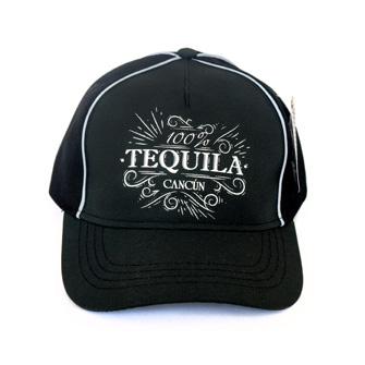 Gorra 100 % Tequila Negro Cc