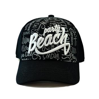 Gorra Party Beach Negro Multi
